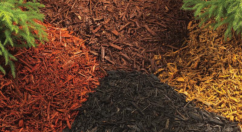 Different colored mulches