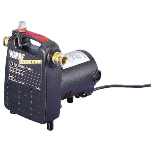 Wayne 1/2 HP 115V 1450 GPH Lift Portable Pump