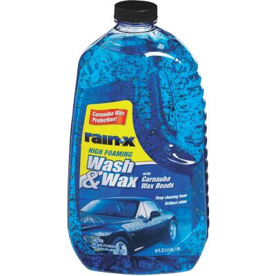 RAIN-X 64 Oz. Liquid High Foaming Car Wash & Wax w/Carnauba Wax
