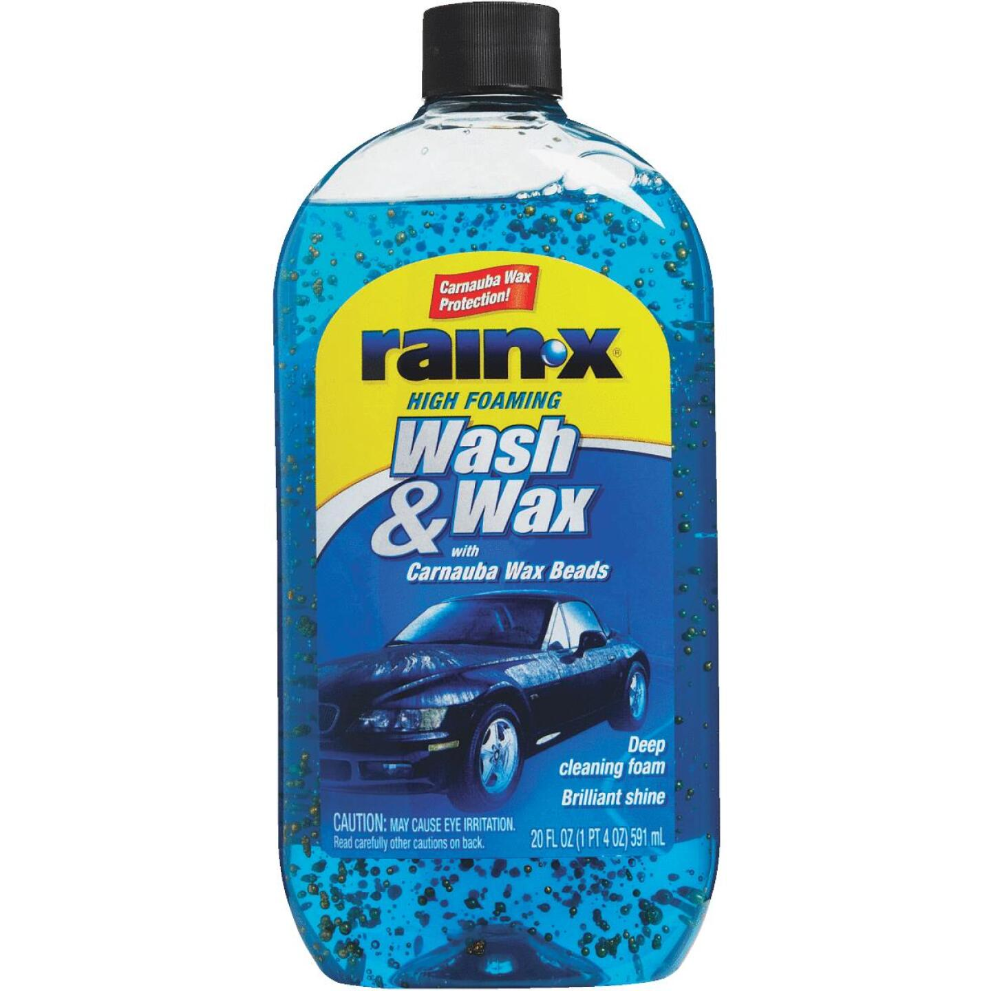 RAIN-X 20 Oz. Liquid High Foaming Car Wash & Wax w/Carnauba Wax Image 2