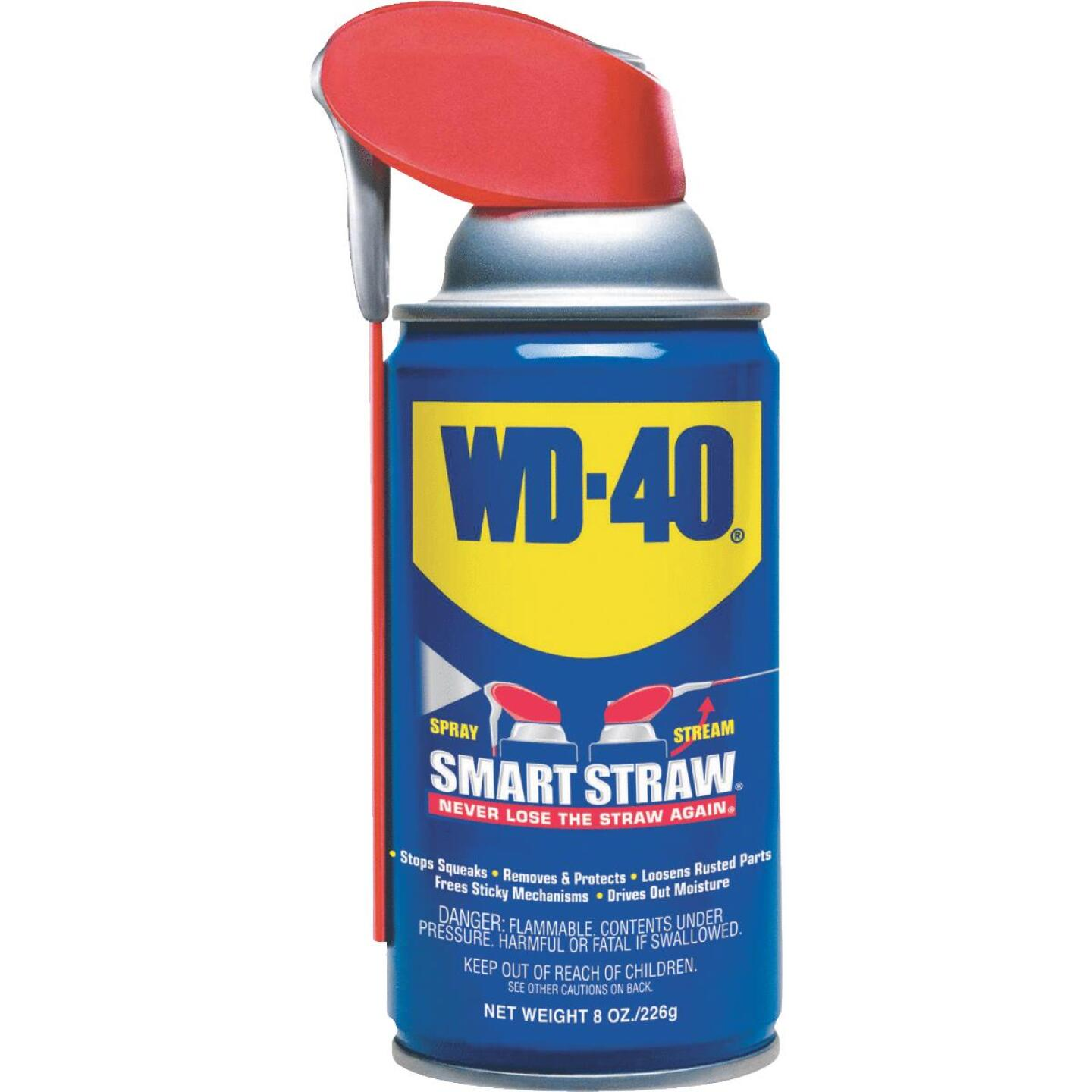 WD-40 8 Oz. Aerosol Multi-Purpose Lubricant with Smart Straw Image 1