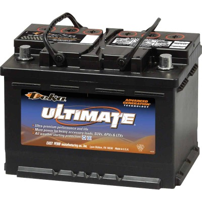 Deka Ultimate 12-Volt 730 CCA Automotive Battery, Top Post Right Front Positive Terminal