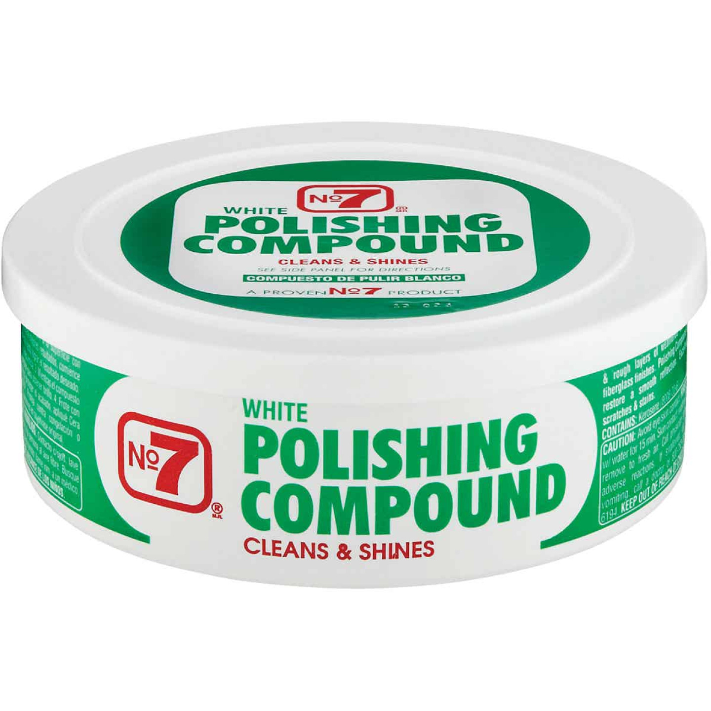 NO. 7, 10 Oz. Paste White Polishing Compound Image 1