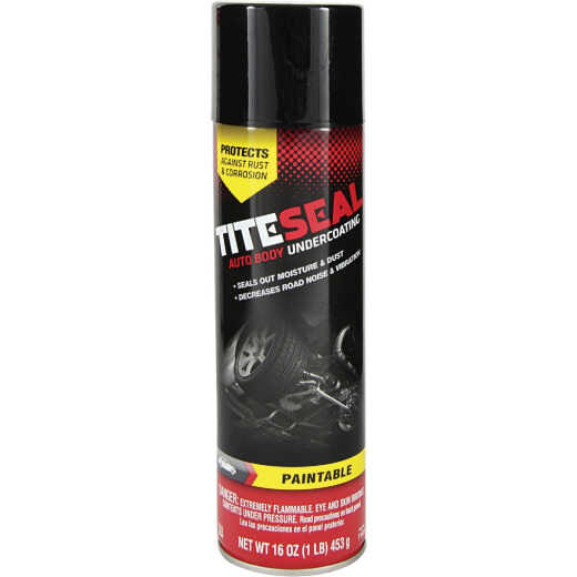 Tite-Seal 16 Oz. Aerosol Paintable Auto Undercoat