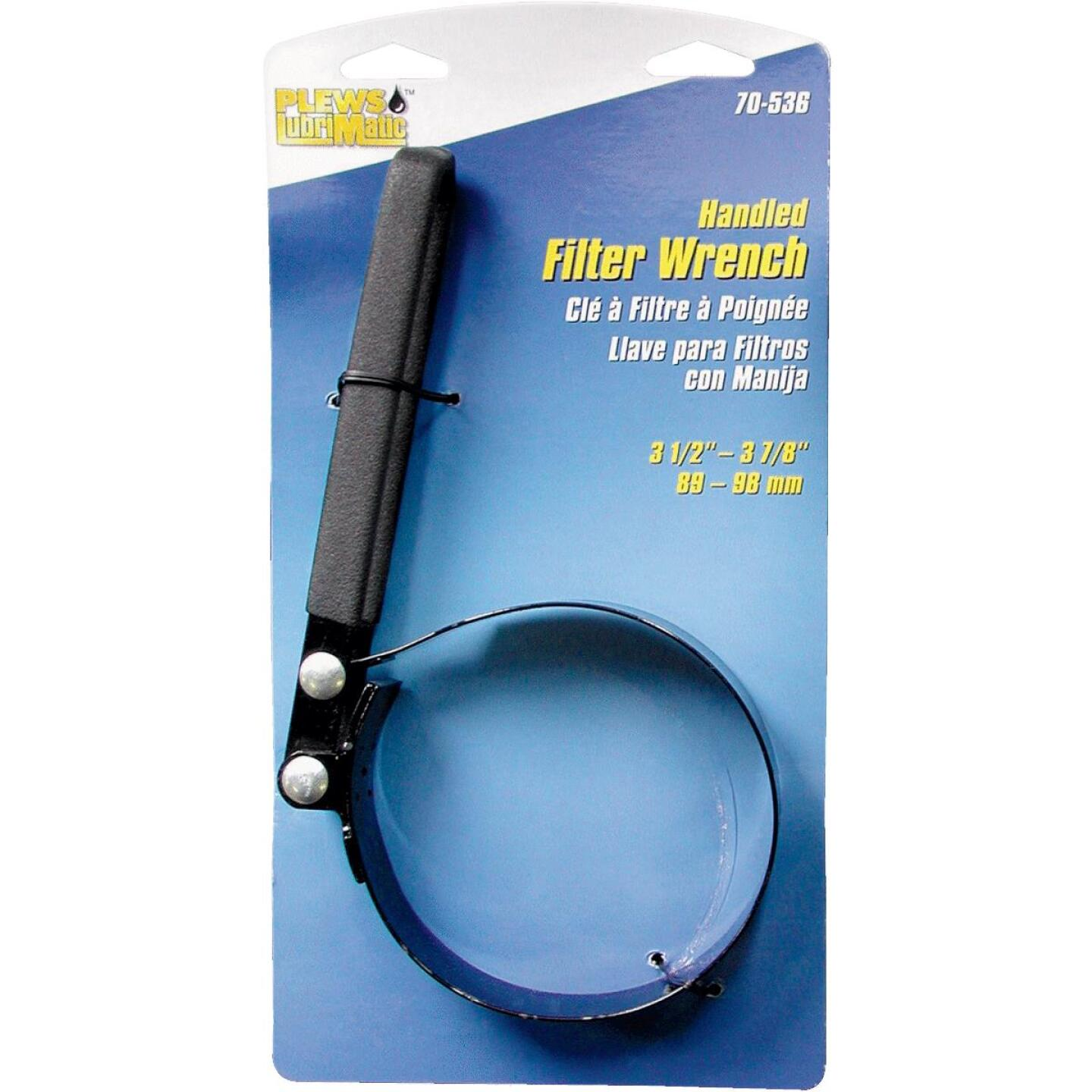 Plews Lubrimatic Steel Vinyl Coated Oil Filter Wrench Image 2