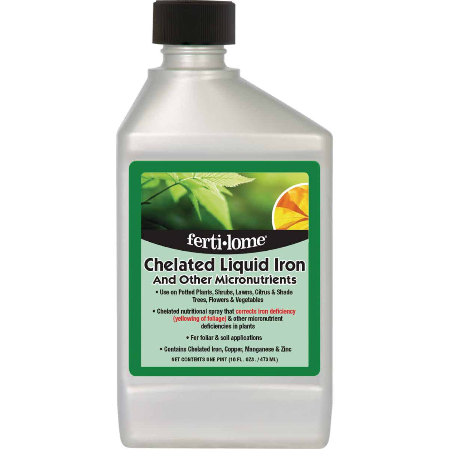 Ferti-lome 16 Oz. Chelated Iron Formulation Concentrate Liquid Plant Food Image 1