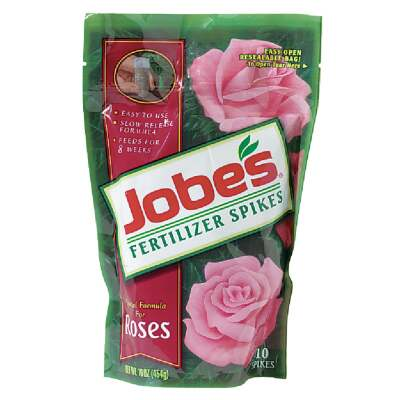 Jobe's 9-12-9 Rose Fertilizer Spikes (10-Pack)