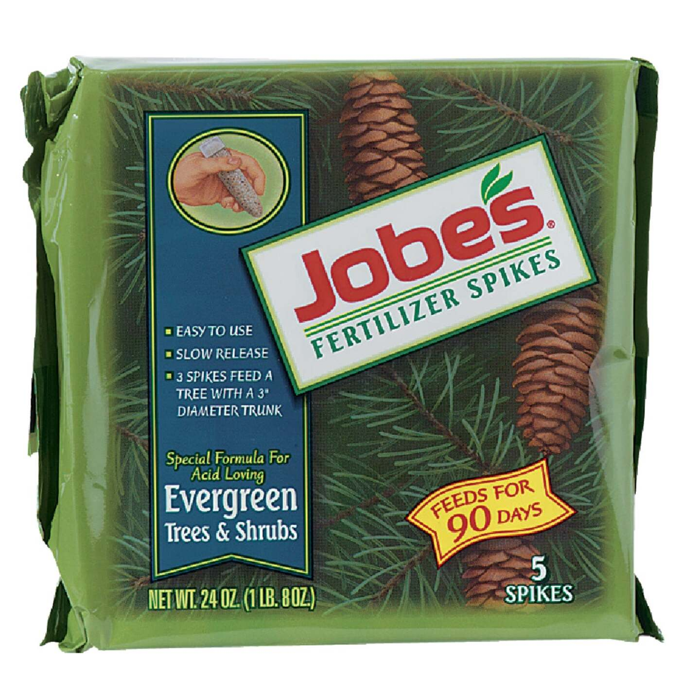 Jobe's Evergreen 13-3-4 Tree & Shrub Fertilizer Spikes (5-Pack) Image 1