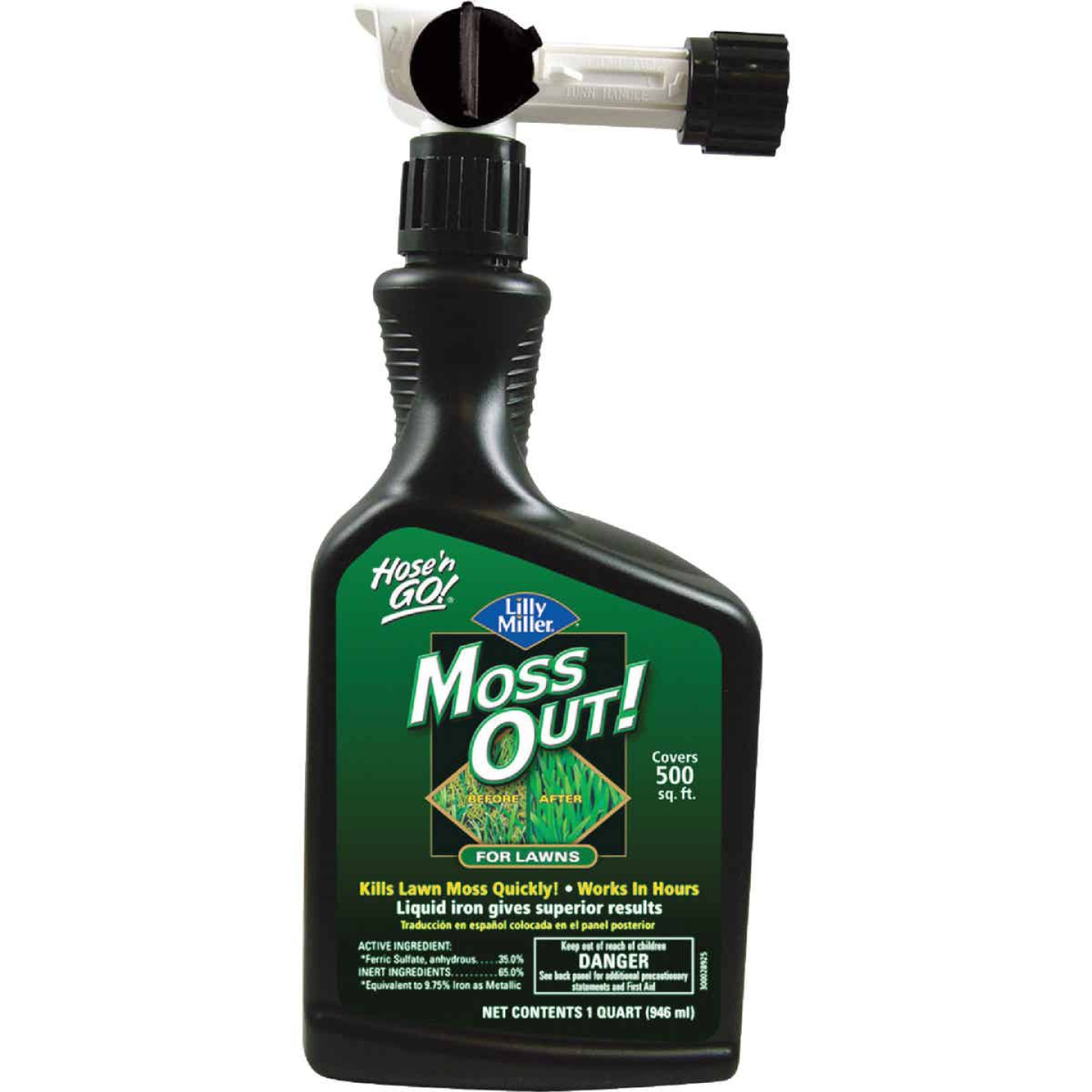 Lilly Miller MOSS OUT! 1 Qt. Ready To Spray Moss & Algae Killer Image 1