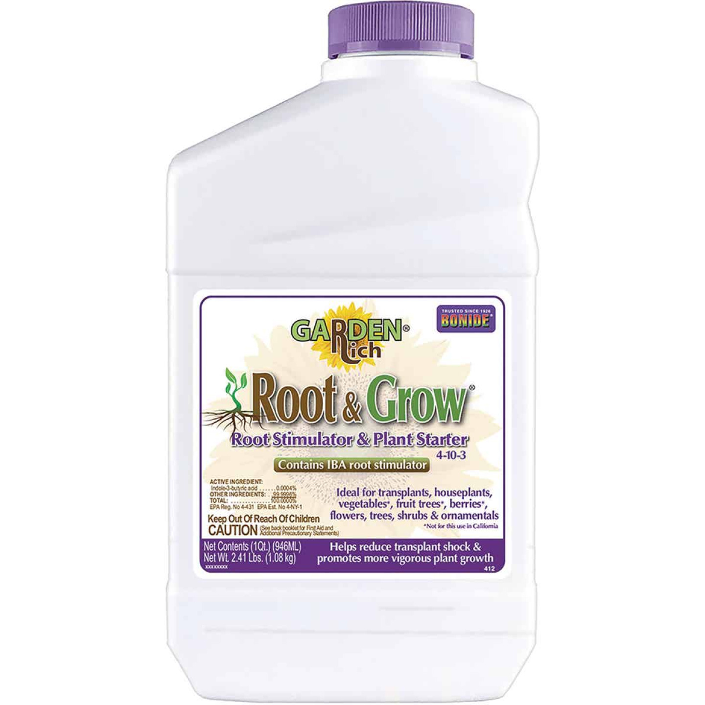 Bonide 1 Qt. 4-10-3 Concentrate Liquid Plant Food Image 1
