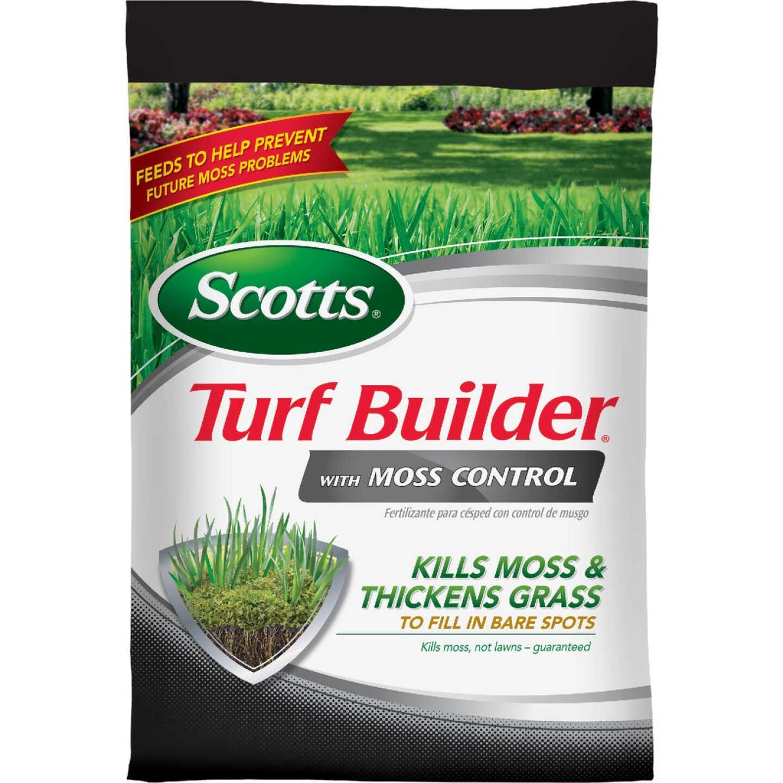 Scotts Turf Builder with Moss Control 25 Lb. 5000 Sq. Ft. 23-0-3 Lawn Fertilizer Image 1